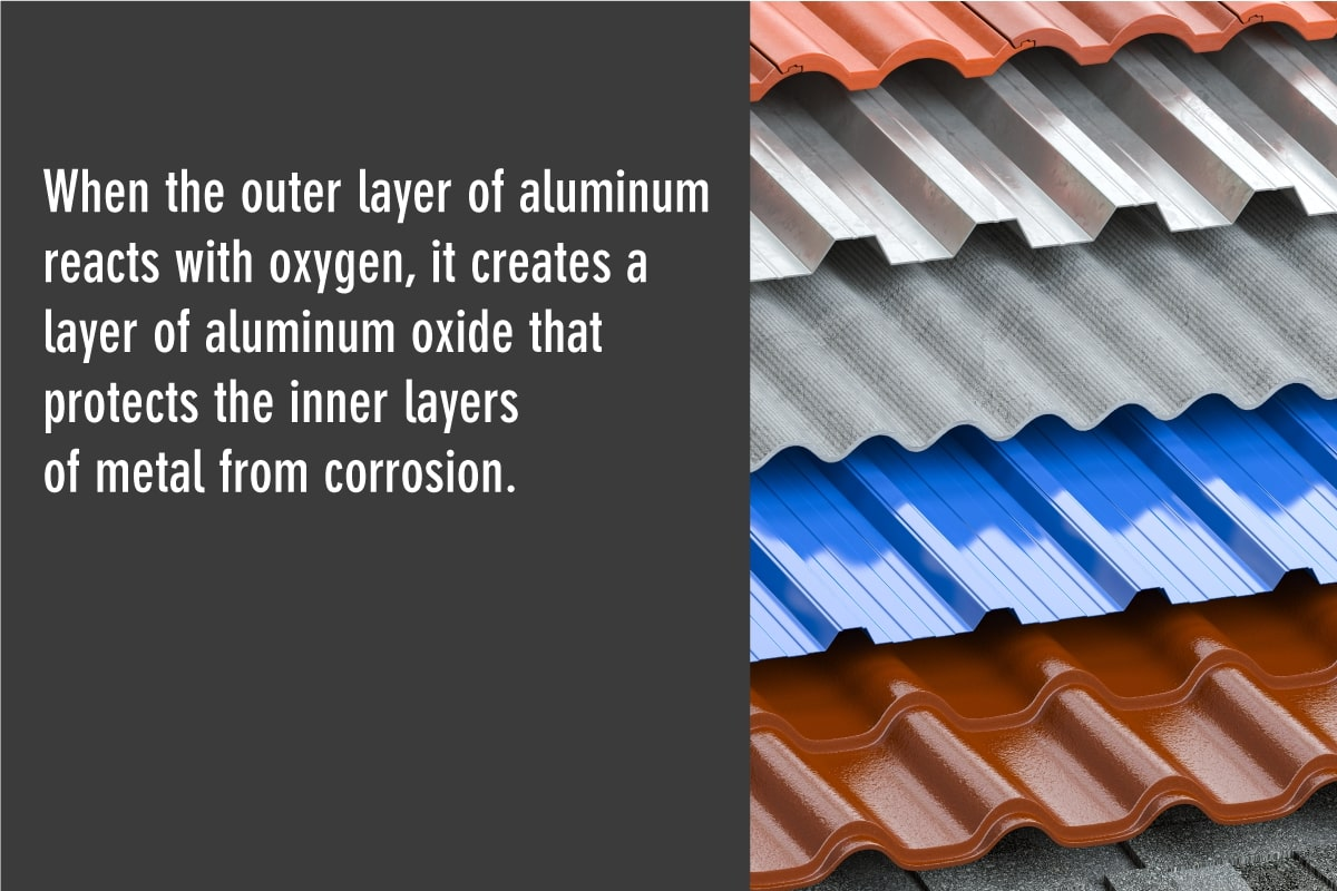 aluminum oxide protects inner layers of a metal roof from corrosion