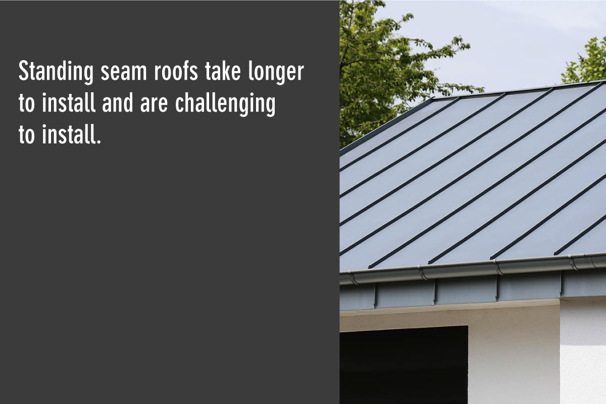 standing seam metal roofs are challenging to install