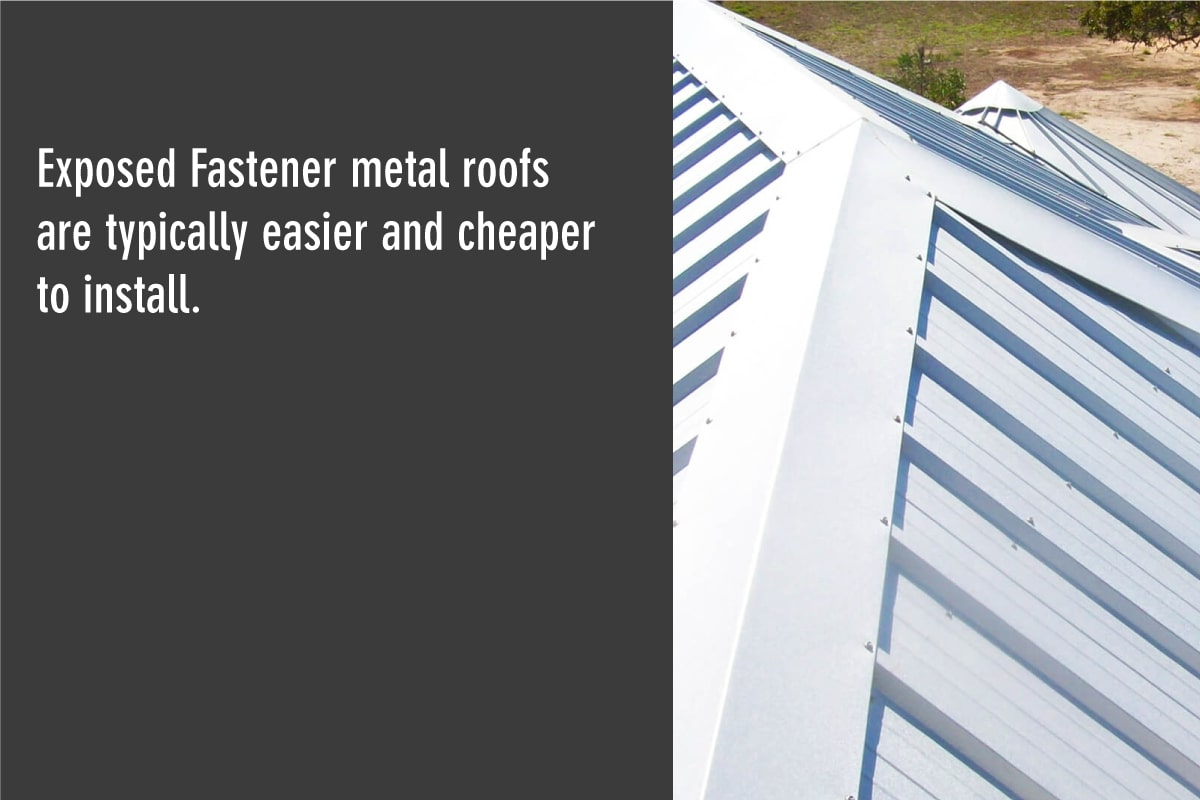 exposed fastener metal roofs are easy to install