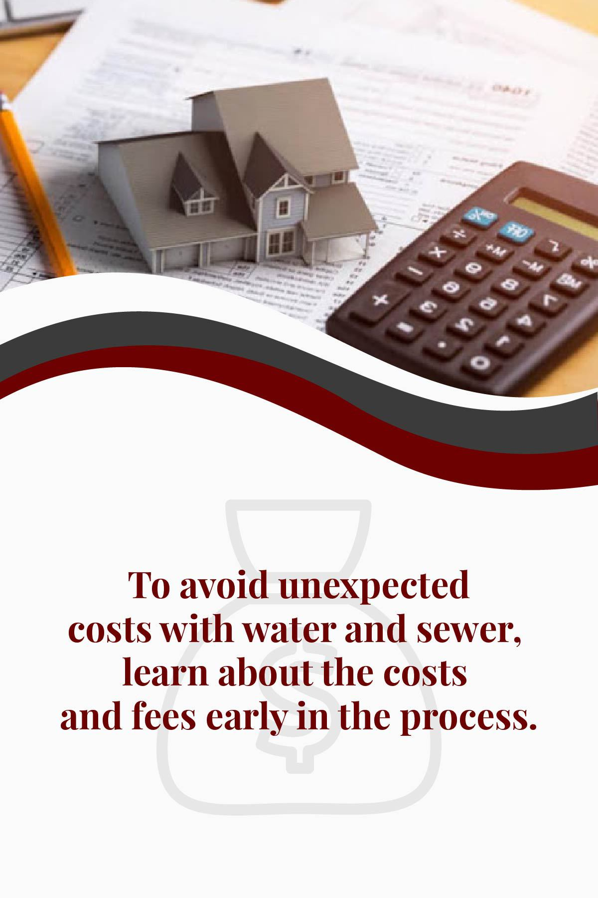 learn about water and sewer fees for a new house