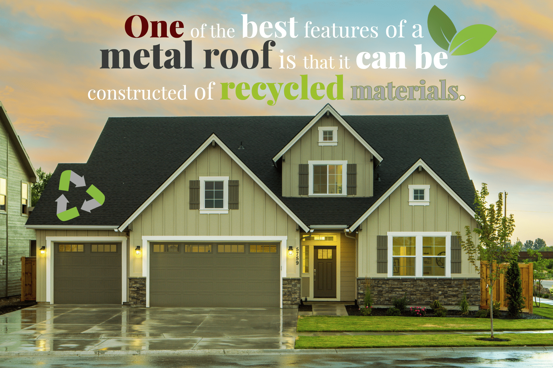 stone coated metal roofing is made from recycled materials