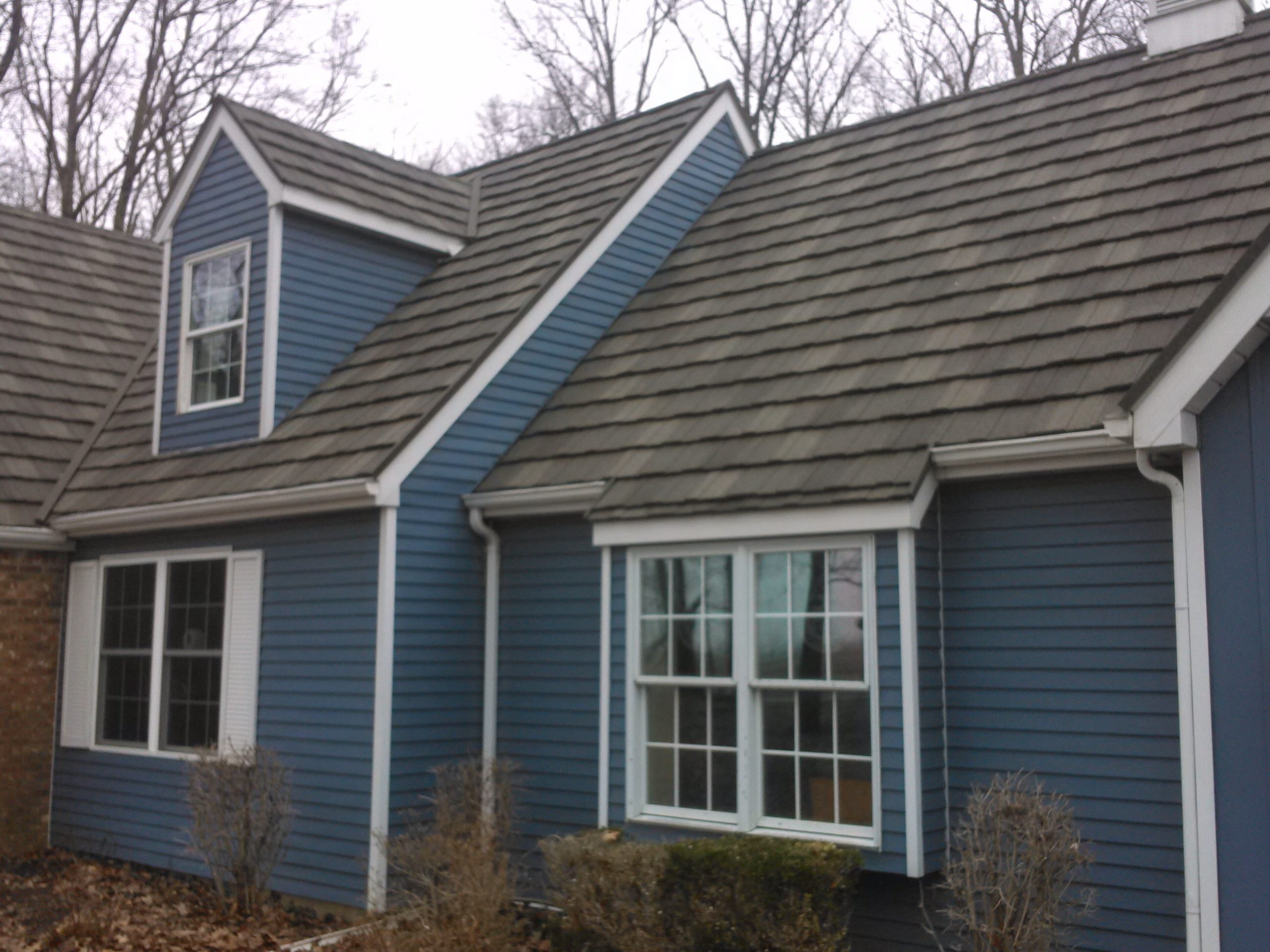 house with stone coated metal shingles