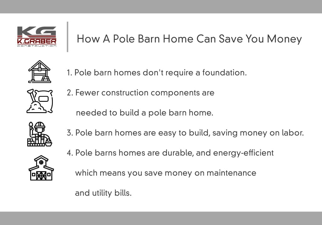 how a pole barn home can save you money